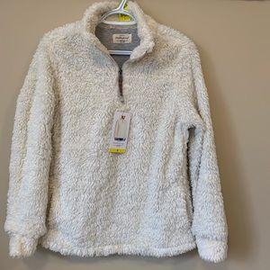 Sherpa Cream white Pullover Sweater